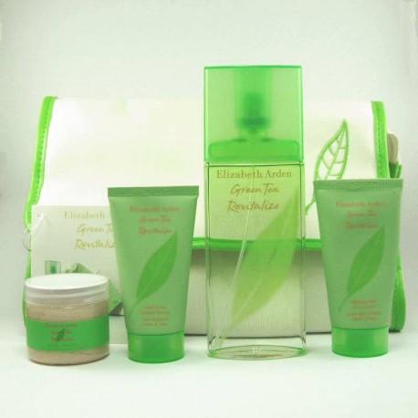 Elizabeth Arden Green Tea Revitalize Estuche edt 100 ml spray + Hand Scrub 50 ml + Body Scrub 60 ml + Hand Moistture 50 ml