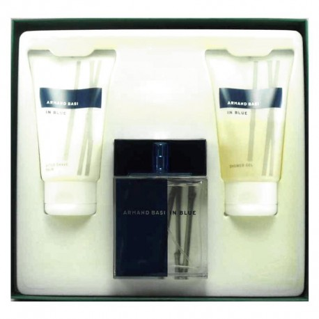 Armand Basi In Blue Estuche edt 100 ml spray + After Shave Balm 100 ml + Shower Gel 100 ml