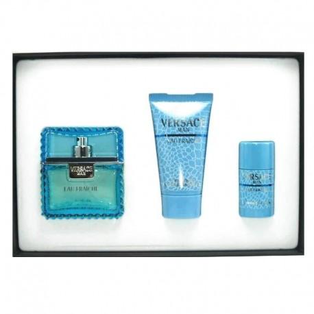 Versace Man Eau Fraiche Estuche edt 50 ml spray + Shower Gel 50 ml + Deo Stick 25 ml