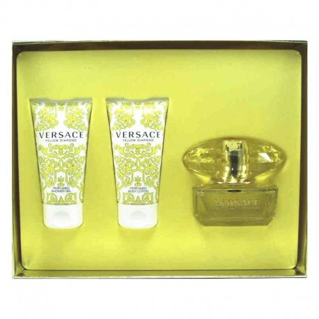 Versace Yellow Diamond Estuche edt 50 ml spray + Shoer Gel 50 ml + Body Lotion 50 ml