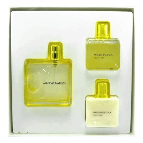 Mandarina Duck Woman Estuche edt 100 ml spray + Body Lotion 75 ml + Shower Gel 75 ml