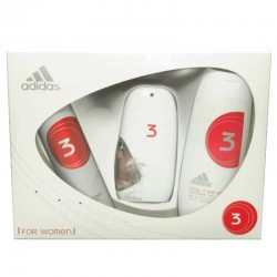 Adidas 3 For Women Estuche edt 50 ml spray + Shower Gel 200 ml + Deo spray 150 ml
