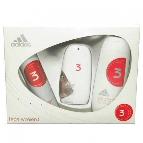 Adidas 3 For Women Estuche edt 50 ml spray + Shower Gel 200 ml + Deo spray 150 ml