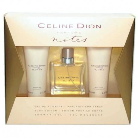 Celine Dion Notes Estuche edt 50 ml spray + Shower Gel 75 ml + Body Lotion 75 ml