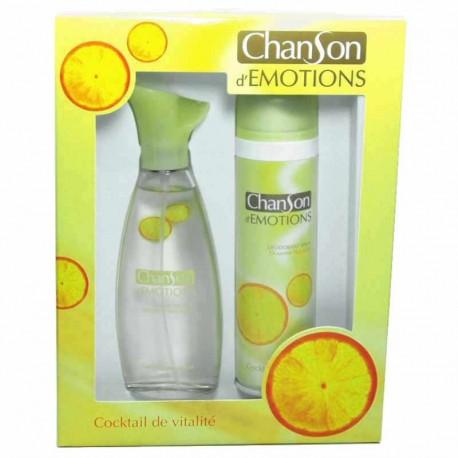 Chanson d´Emotions Coktail de Vitalité Coty Estuche edt 100 ml spray + Desodorante 150 ml spray