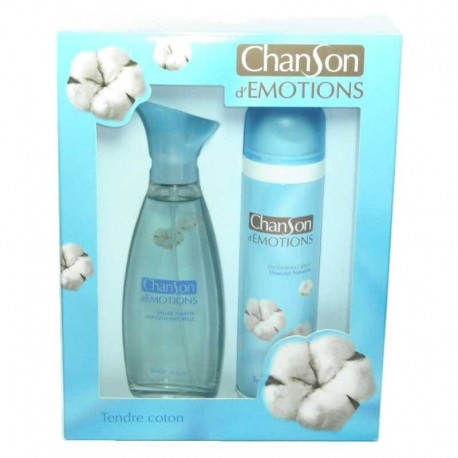Chanson d´Emotions Tendre Coton Coty Estuche edt 100 ml spray + Desodorante 150 ml spray