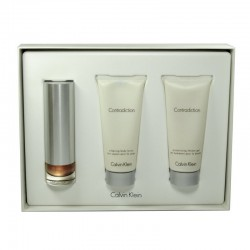 Calvin Klein Contradiction Woman edp 50 ml spray + Body Lotion 100 ml + Gel de Baño 100 ml