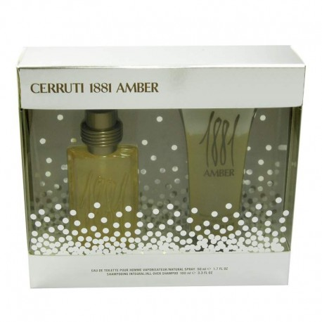 Cerruti 1881 Amber Estuche edt 50 ml spray + Gel de Baño 100 ml