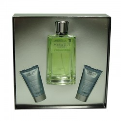 Lancome Miracle Homme L´Aquatonic Estuche edt 125 ml spray + Crema Hidratante 30 ml + Gel Limpiador 30 ml