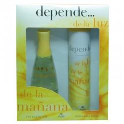 Depende de la luz de la mañana de Puig Estuche edt 100 ml no spray + Desodorante 200 ml spray