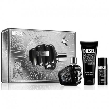 Diesel Only The Brave Tattoo Pour Homme Estuche edt 50 ml spray + Shower Gel 100 ml + 50 ml