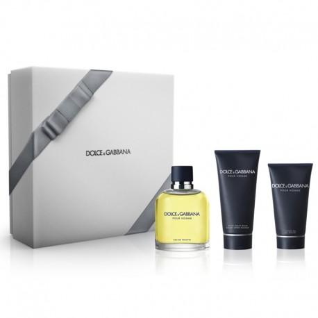 Dolce & Gabbana Homme Estuche edt 125 ml spray + After Shave Balm 100 ml + Shower Gel 50 ml