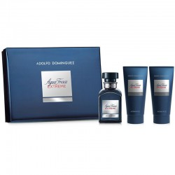 Adolfo Dominguez Agua Fresca Extreme Estuche edt 120 ml spray + After Shave Balm 100 ml + Gel de Ducha 100 ml