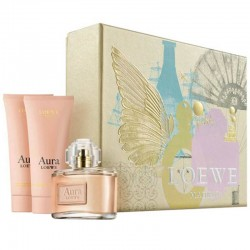 Loewe Aura Estuche eau de parfum 80 ml spray + Body Lotion 75 ml + Shower Gel 75 ml