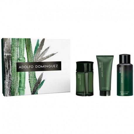Adolfo Dominguez Bambu Man Estuche edt 120 ml spray + Shower Gel 100 ml + After Shave Balm 100 ml