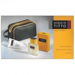 Titto Bluni Acqua Di Titto Estuche edt 100 ml no spray + After Shave Bálsamo + Neceser