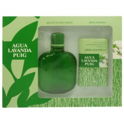 Agua Lavanda Puig Estuche eau de cologne 100 ml no spray + Jaboneta