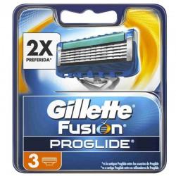 Gillette Fusion Proglide Recambio 3 unds