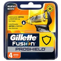 Gillette Fusion Proglide Proshield Recambio 4 unds