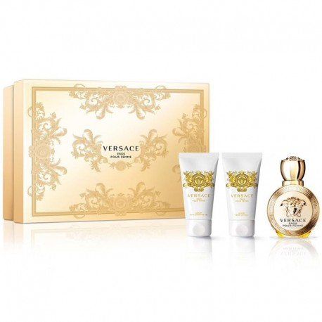 Versace Eros Pour Femme Estuche edp 50 ml spray + Body Lotion 50 ml + Shower Gel 50 ml