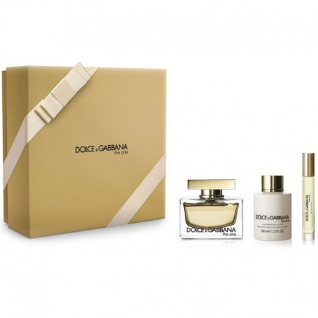 Dolce & Gabbana The One Estuche edp 75 ml spray + edp 7.4 ml rollerball + Body Lotion 100 ml