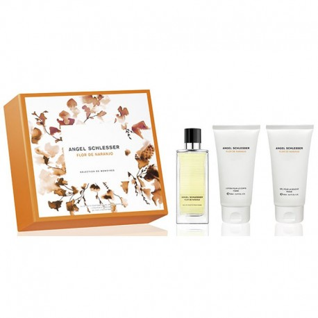 Angel Schlesser Femme Flor de Naranjo Estuche edt 100 ml spray + Body Lotion 100 ml + Shower Gel 100 m