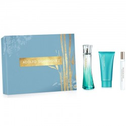 Adolfo Dominguez Agua de Bambu Woman Estuche edt 100 ml spray + edt 20 ml spray + Body Lotion 75 ml