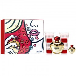 Moschino Glamour Estuche edp 50 ml spray + Shower Gel 50 ml + Body Lotion 50 ml + miniatura 5 ml