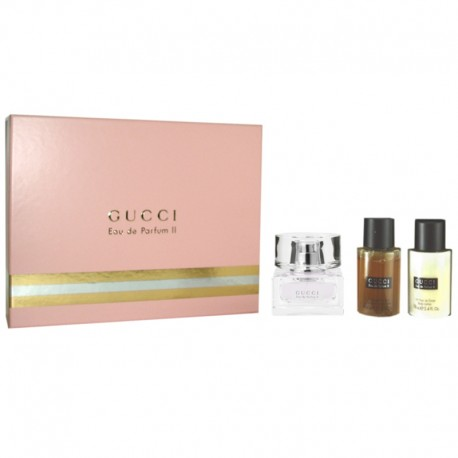 Gucci II Estuche edp 50 ml spray + Shower gel 100 ml + Body Lotion 100 ml