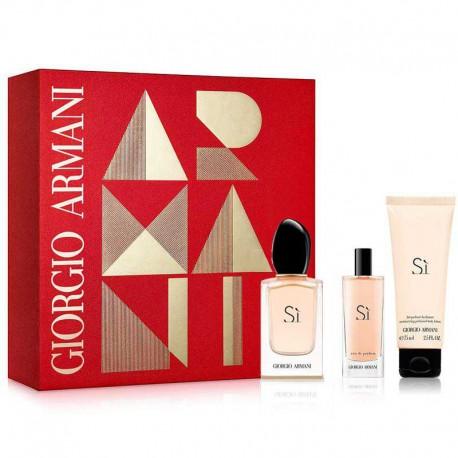 Giorgio Armani Si Estuche edp 50 ml spray + edp 15 ml spray + Body Lotion 75 ml