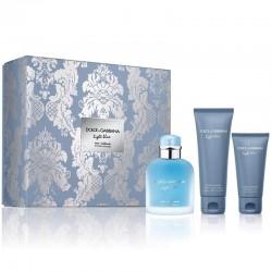 Dolce & Gabbana Light Blue Homme Eau Intense Estuche edp 100 ml spray + Shower Gel 50 ml + After Shave Balm 75 ml