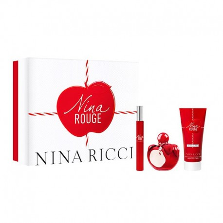 Nina Ricci Nina Rouge Estuche edt 50 ml spray + edt 10 ml spray + Body Lotion 75 ml
