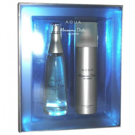 Massimo Dutti Agua Woman Estuche edt 100 ml spray + Deo spray 150 ml