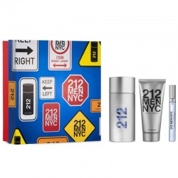 Carolina Herrera 212 Men Estuche edt 100 ml spray + edt 10 ml spray + After Shave Gel 100 ml