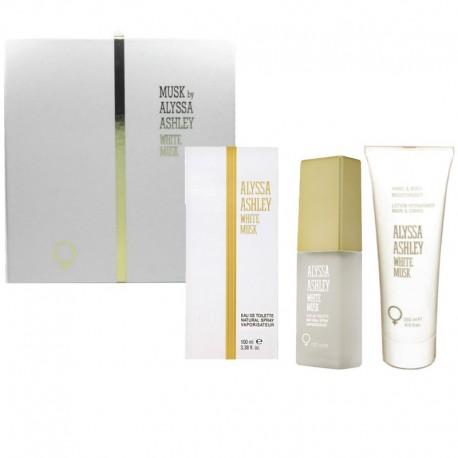 Alyssa Ashley White Musk Estuche edt 100 ml spray + Body Lotion 250 ml