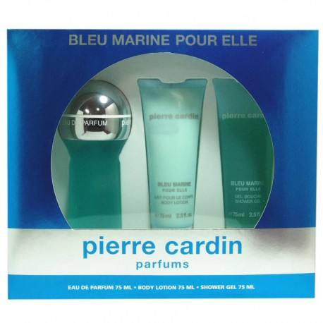 Pierre Cardin Bleu Marine Pour Elle Estuche edp 75 ml spray + Body Lotion 75 ml + Shower Gel 75 ml