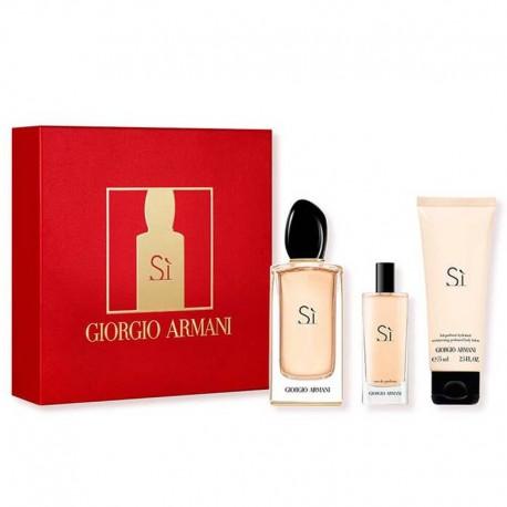 Giorgio Armani Si Estuche edp 100 ml spray + edp 15 ml spray + Body Lotion 75 ml